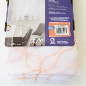 Better Homes And Gardens Accents - Better Homes & Gardens Valance & 2 Tiers Sheers